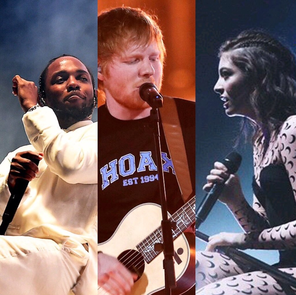 Grammys 2018 preview: The Big Four – Kendrick Lamar, Ed Sheeran and Lorde
